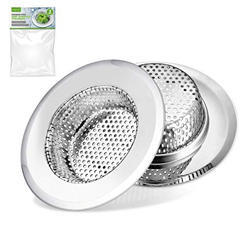 - Moscany 2PCS Kitchen Sink Strainers, Made of Stainless Steel - 4.33