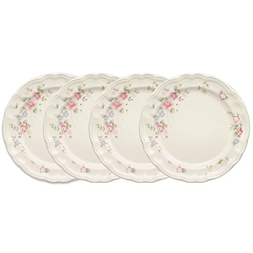 Pfaltzgraff Tea Rose Dinner Plate (10-1/4-Inch, Set of 4)