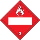 Brady 13/4'' X 13/4'' X .024'' Red On White .0024'' B-101 Polycoated Tagstock DOT Vehicle Placard''3''