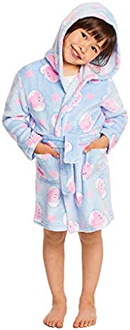 Girls Peppa Pig Sleep Robe - Girls Fleece Hooded Bathrobe