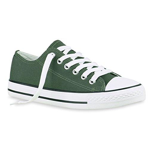 Stiefelparadies - Zapatillas de casa Mujer verde oscuro