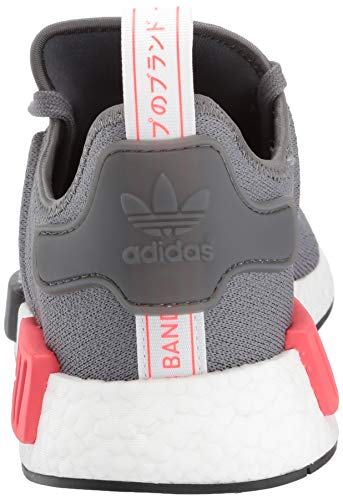 adidas Originals Men's NMD_R1 Running Shoe, Grey/Shock red, 4 M US by adidas Originals (Image #2)