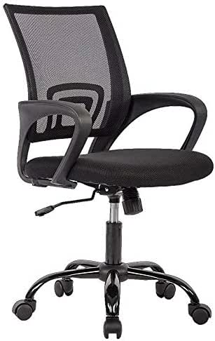 Office Chair Ergonomic Desk Chair Mesh Computer Chair Lumbar Support Modern Executive Adjustable Stool Rolling Swivel Chair for Back Pain, Black