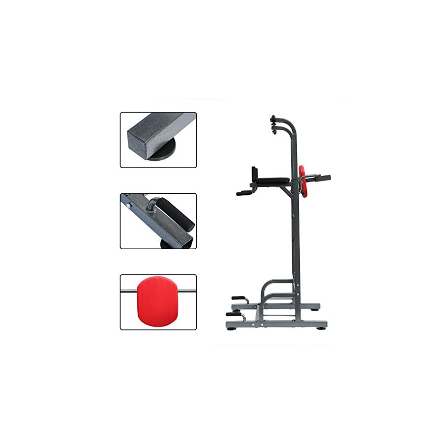 Homgrace Power Tower Dip Station Adjustable Height for Home Gym