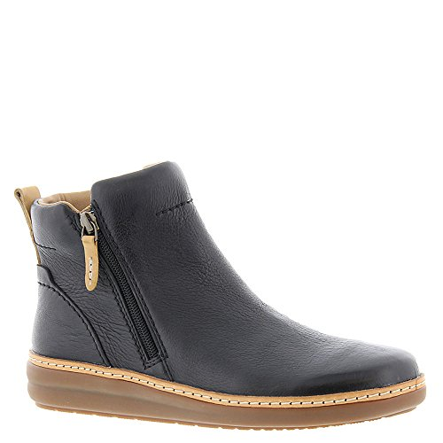Clarks Womens Amberlee Rosi Low Boot, Size: 6.5 C/D US, Color Black Leather by CLARKS (Image #1)