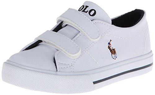 Polo Ralph Lauren Kids SCHOLAR EZ Sneaker (Toddler),White,9 M US - Size Ralph 5 Lauren