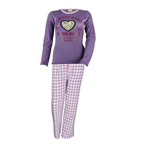 Mujer Manga Larga Pijama Sweet Home