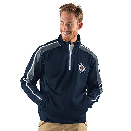 Nhl Winnipeg Jets Mens Synergy Half Zip Pullover Jacket  Small  Navy