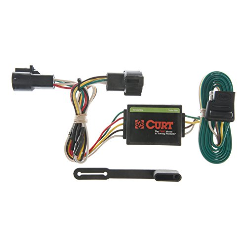 (CURT 55325 Vehicle-Side Custom 4-Pin Trailer Wiring Harness for Select Ford Ranger, Mazda B2300, B3000,)