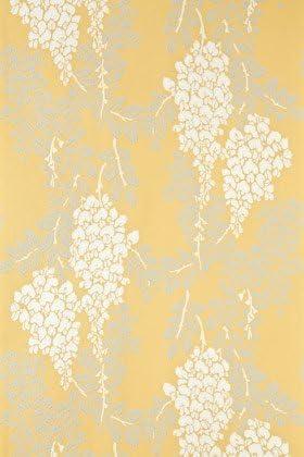 Farrow Ball Bp2212 Wisteria Wallpaper Yellow Amazon Com