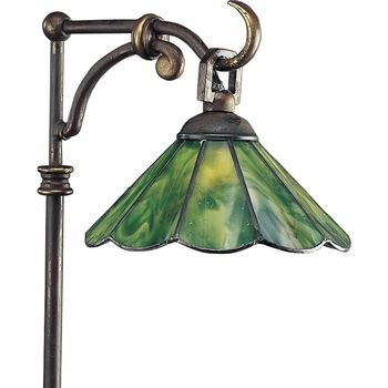 Progress Lighting P5271-20 Landscape 12-Volt Glass Top Tiffany Path Light with Tiffany Art Glass, Antique Bronze ()