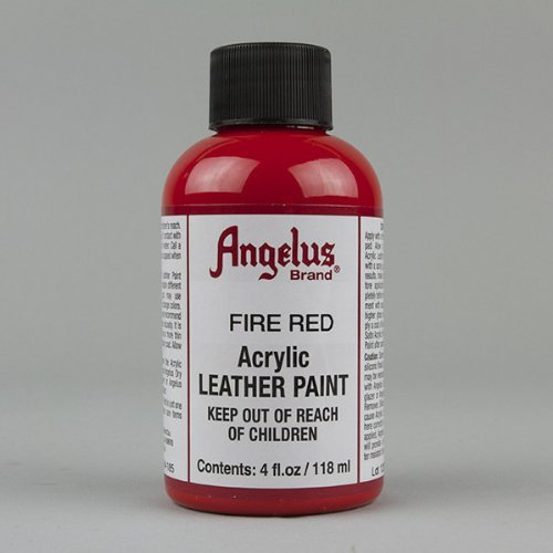 Angelus Acrylic Leather Paint-4 oz.- Fire Red - Logo Red Leather