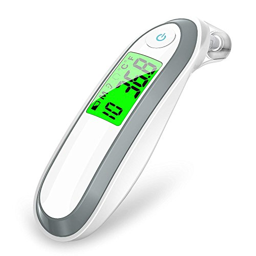 Ear and Forehead Thermometer,Annsky Digital Medical Infrared Thermometer for Baby Children and Adults,Fahrenheit and Celsius Convertible,CE Approved,2018 Release ()