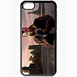 Personalized iPhone 5C Cell phone Case/Cover Skin Gta Grand Theft Auto 4 Niko Bellic City Statue Of Liberty Black by supermalls