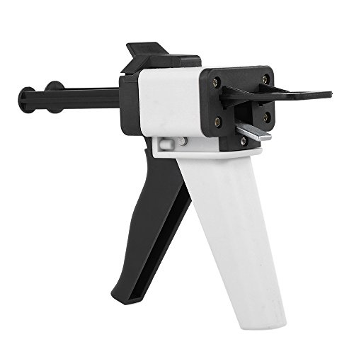 Anself Dental Impression Mixing Dispensing Universal Dispenser Gun Silicon Rubber Dispenser Gun1:1/1:2 50ml