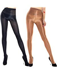 8df50cf9d3 70D Women's Control Top Dance Tights Ultra Shimmery Plus Footed Tights  Thickness Shine Pantyhose Stockings 2