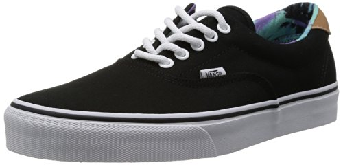Vans Era 59 (C & F) Black / Beach Glass Skateboard Shoes - 8.5