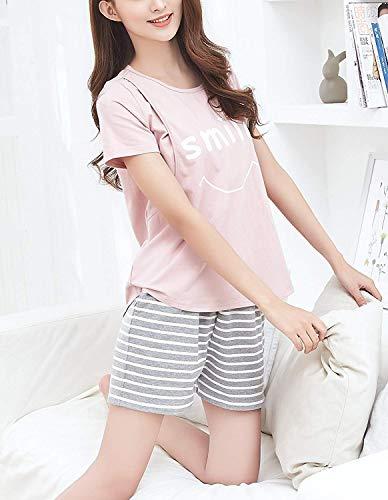pjs Enfermería Pijamas Dormir Mujer Para Ropa L Sleepwear Home Pink Conjuntos Maternidad Cortos Enfermería De OPxqaqSB8w