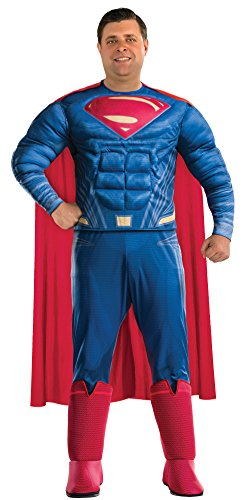 Superman Halloween Costume For Men - Justice League Deluxe Adult Superman Costume, Plus Size