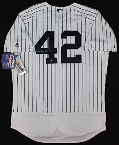 Mariano Rivera Autographed Pinstriped New York Yankees Jersey - Hand Signed By Mariano Rivera and Certified Authentic by Steiner - Includes Certificate of -