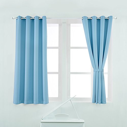 Light Blue Curtains Or Drapes - 1