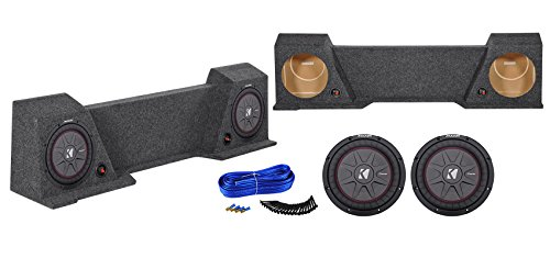 "10"" Kicker Subwoofers + Sub Box Enclosure for 2004-2008 Ford F150 Xcab/SuperCrew"