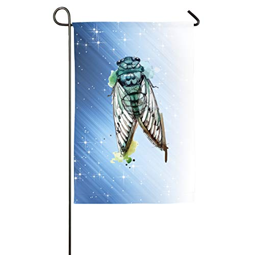 FOOOKL Cicada Home Family Party Flag 100 Hipster Welcomes The Banner Garden Flags