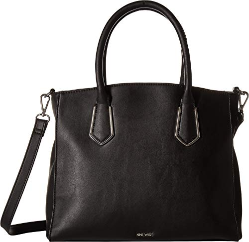(Nine West Women's Blossoming Satchel Black One Size)