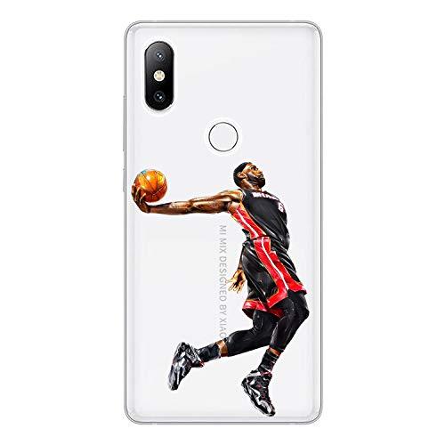 1 piece For Xiaomi Mi Mix 2 2S Case Cover 5.99 Soft TPU Silicone Popular Cool Kobe James Jordan Messi Ronaldo Star Painted Phone Case ()