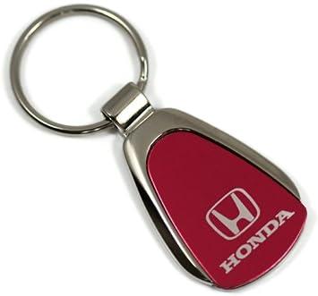 dantegts Honda Logo Rojo Lágrima Llavero cromo llavero metal ...