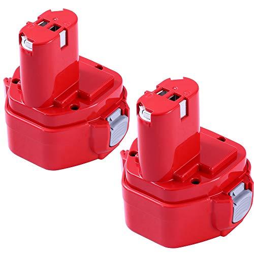 [Upgraded to 3600mAh] Replace for Makita 12V Battery 3.6Ah Ni-MH 1200 1220 1201 PA12 1222 1233S 1233SA 1233SB 1235 192681-5 Cordless Tools 2Pack