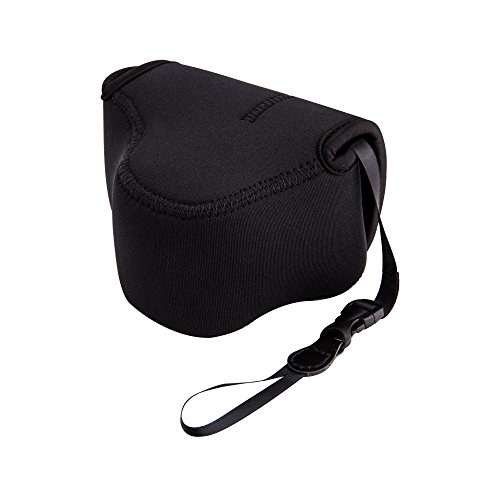 JJC Neoprene Camera Case Pouch for Fuji Fujifilm X-T30 X-T20 X-T10 X-T100 X-A5 + XC 15-45mm PZ/XF 35mm f2 R/XF 18mm f2 R Lens And Other Camera & Lens Below 5.0 x 3.3 x 3.3