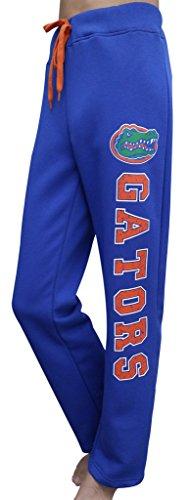Women's Florida Gators Fleece Vintage Pajamas Pants Trousers - Blue (Size: L)