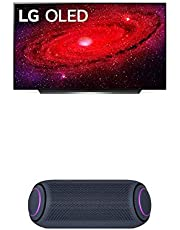 "LG OLED65CXPUA Alexa Built-in CX 65"" 4K Smart OLED TV (2020) w/ PL7 XBOOM Go Water-Resistant Wireless Bluetooth Party Speaker"