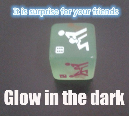 Novelty Toy Glow in the Dark Erotic Dice (Set of 3)