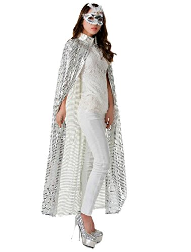 CeeDeek Adult Costumes Full Length Cloaks for Halloween Christmas Cosplay (B-Silver)