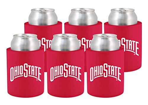 NCAA Ohio State Buckeyes Phoozie Set, 6-Pack, Scarlet/White -