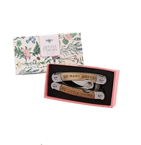 Two's Company 5 in 1 Garden Multi Tool in Gift Box (Garden Engraved Trowel)