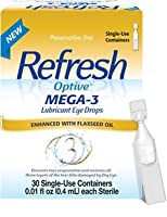 Refresh Optive Mega-3 Lubricant Eye Drops, 30 Single-Use Sterile Containers