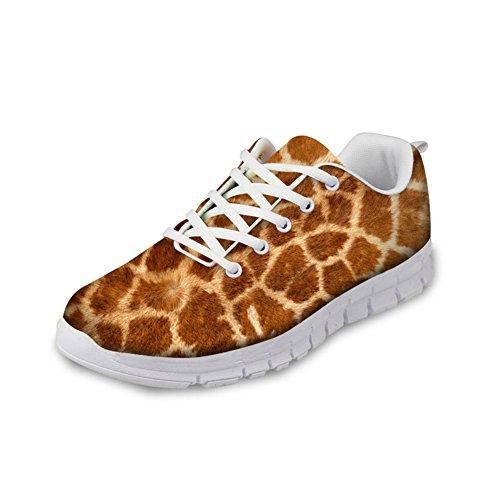 Abbracci Idea Animali Modello Moda Donna Leggero Esecuzione Sneakers Cervi Modello