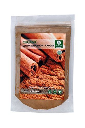 Organic Ceylon Cinnamon Powder (1lb) by Naturevibe Botanicals, Raw, Gluten-Free & Non-GMO (16 ounces)