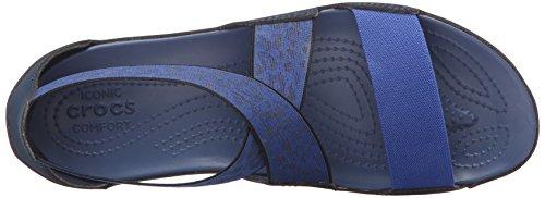 Anna Bijou Bleu Blue Navy Femme Crocs Sandales Bwqd7cC
