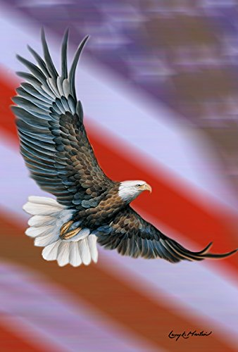 Toland Home Garden Patriotic Eagle 28 x 40 Inch Decorative America USA Flying Bird House Flag