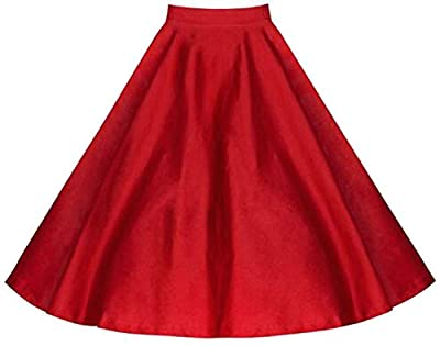 Papijam Womens Stylish High Rise Pleated Swing Flare Skater A-Line Skirts