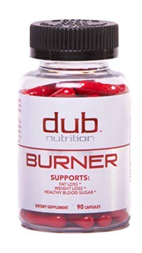 Fat Burner by dub Nutrition | Best Weight Loss Pills Thermogenic Supplement | Natural Energy and Appetite Suppressant, Includes Red Rasberry Ketones, Guarana, and BCAA. Healthy Blood Sugar Levels. by Dub Nutrition