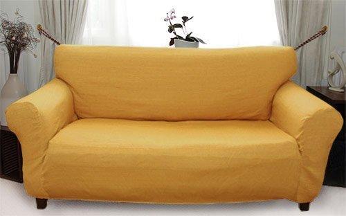 Afrique - Funda de sofá elástica (Oro) - 3 plazas (170-220cm)