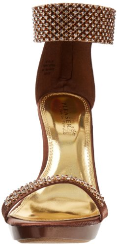 Bronze Revel Satin Zapatos Mujer 16 Pleaser Destalonados g0Xqw