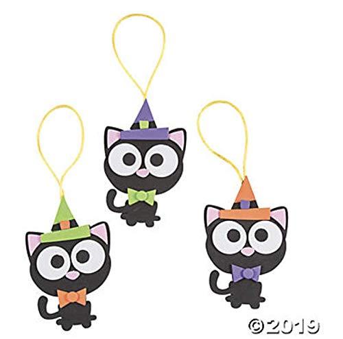 (24) Halloween Black Cat Ornament Craft Kits ~