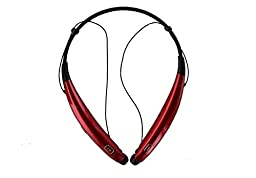LG Tone Pro HBS-770 Bluetooth Wireless Stereo Headset Neckband - Red (Certified Refurbished)