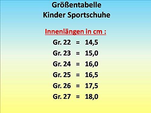 gibra - Zapatillas para deportes de interior de textil/sintético para niña petrol/neongrün